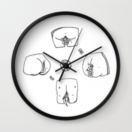 The Garden of Butts Wall Clock