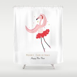 Dancing Flamingo Shower Curtain
