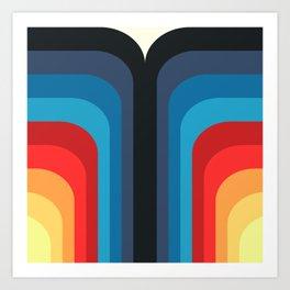 Retro Rainbow 01 Art Print