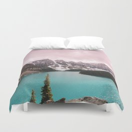 Moraine Lake Banff National Park Duvet Cover