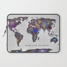 Star map. Never stop exploring... Laptop Sleeve