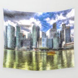 Singapore Marina Bay Sands Art Wall Tapestry