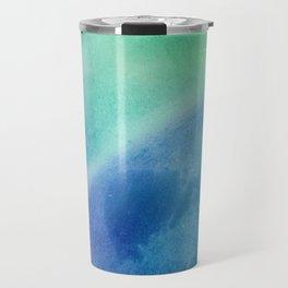 Soft Dreamy Blue Galaxy Travel Mug
