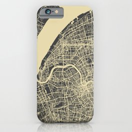 Shanghai Map #1 iPhone Case