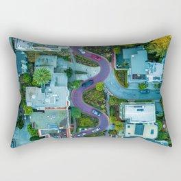 San Francisco Aerial (Color) Rectangular Pillow