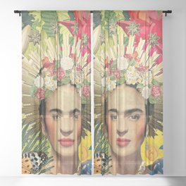 Frida Kahlo XI Sheer Curtain