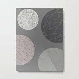 BROKEN (abstract geometric) Metal Print
