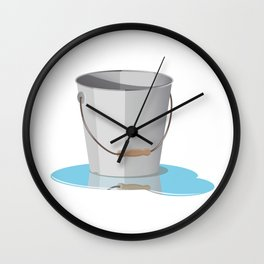 Bucket with Water Wall Clock