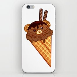 Chocolate Ice Cream Bear iPhone Skin