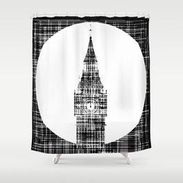 Big Ben Grunge Background Shower Curtain