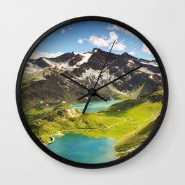 Italian Landscape Mountains and Lake Wall Clock