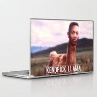 kendrick lamar Laptop & iPad Skins featuring Kendrick Llama by Creatmaker
