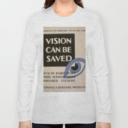 Vintage poster - Vision Can Be Saved Long Sleeve T-shirt