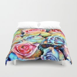 For Love of Roses Duvet Cover