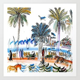Promenade des Anglais in Nice France Art Print
