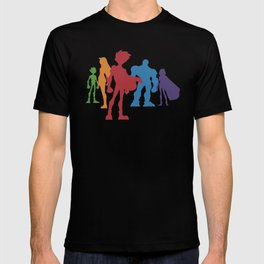 [ Teen Titans ] Robin, Starfire, Raven, Beast Boy and Cyborg T-shirt