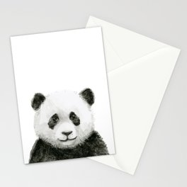 Baby Panda Watercolor Stationery Cards