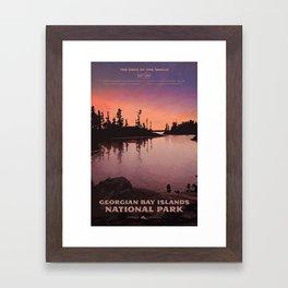 Georgian Bay Islands National Park Framed Art Print