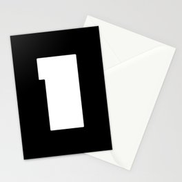 Number ONE - 1 - Minimalism Stationery Cards