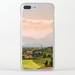 sunny spring day in the countryside Clear iPhone Case