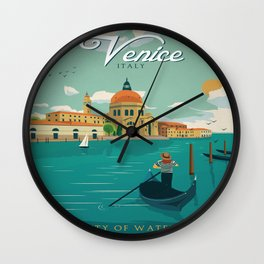 Vintage poster - Venice Wall Clock