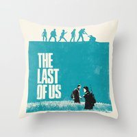 the last of us Throw Pillows featuring The Last Of Us by Bill Pyle
