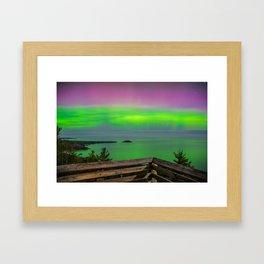 Sugar Loaf Northern Lights Framed Art Print
