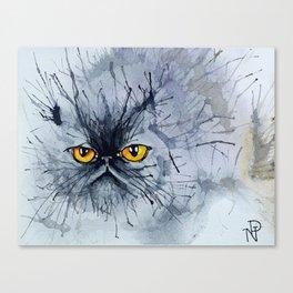 Watecolour cat Canvas Print
