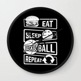 Eat Sleep Basketball Repeat - B-Ball Team Dunk Wall Clock