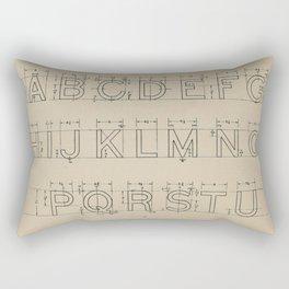 Vintage Block Font Rectangular Pillow