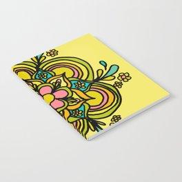 Flower Power Mandala Positive Vibes Flow Freely Notebook