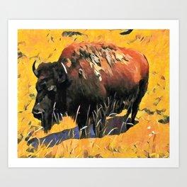 Muddy Buffalo Art Print