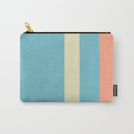 A tremendous batter of Bright Gray, Seafoam Blue, Vivid Tangerine and Spring Green (Crayola) vertical stripes. Carry-All Pouch