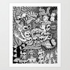 Sacrificial Fast Food Ceremony Art Print