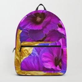 golden art purple garden bouquet art Backpack