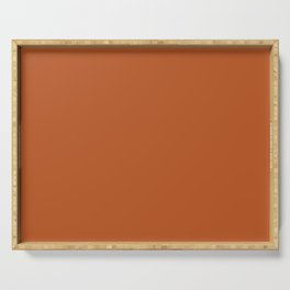 Rust Solid Color Block Serving Tray