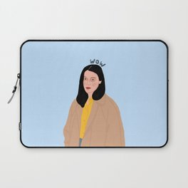 An Unimpressed 'wow' Laptop Sleeve