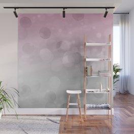 Pink  Grey Soft Gradient Bokeh Lights Wall Mural