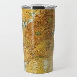 Vase with Twelve Sunflowers, Van Gogh Travel Mug