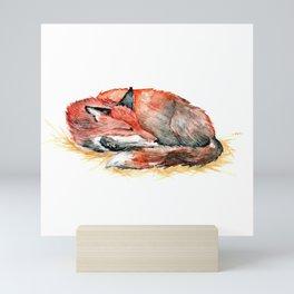 Sleeping Fox Watercolor Mini Art Print
