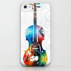 Colorful Violin Art by Sharon Cummings iPhone 5c Slim Case