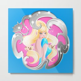 Chinese Zodiac The Dog Pin Up girl Metal Print