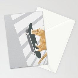 Skateboarding cat Stationery Cards