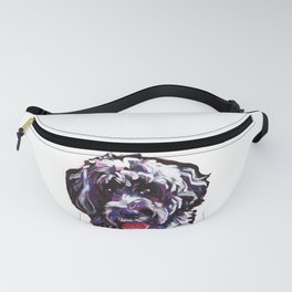 PWD Portuguese Water Dog Fun bright colorful Pop Art Dog Painting by Lea Fanny Pack