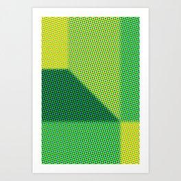 Green abstract dots Art Print