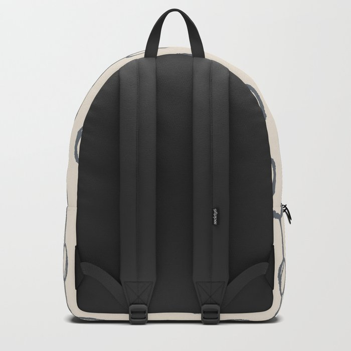 Pebble Dot Stripes Gray on Rose Petal Cream Backpack