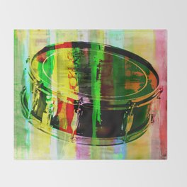 Drum Abstract Throw Blanket