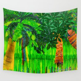 Palm's Rainbow Roots Wall Tapestry
