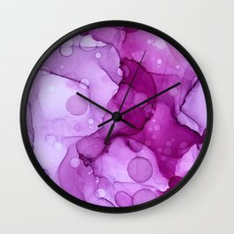 Abstract alcohol ink art painting Wall Clock