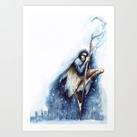 jack frost Art Prints featuring Jack Frost by Ines92